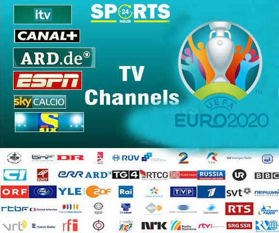 UEFA EURO 2021 Broadcasting TV Channels