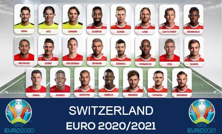 Euro 2021 SWITZERLAND Squads List.