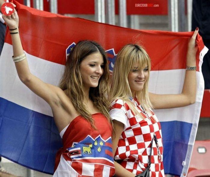 beautiful Croatia Euro fans
